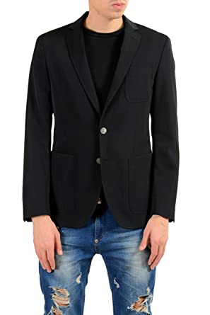 """7f07f09f2 Image Unavailable. Image not available for. Color: Hugo Boss Raye6""""  Men's 100% Wool Black Blazer Sport Coat ..."""