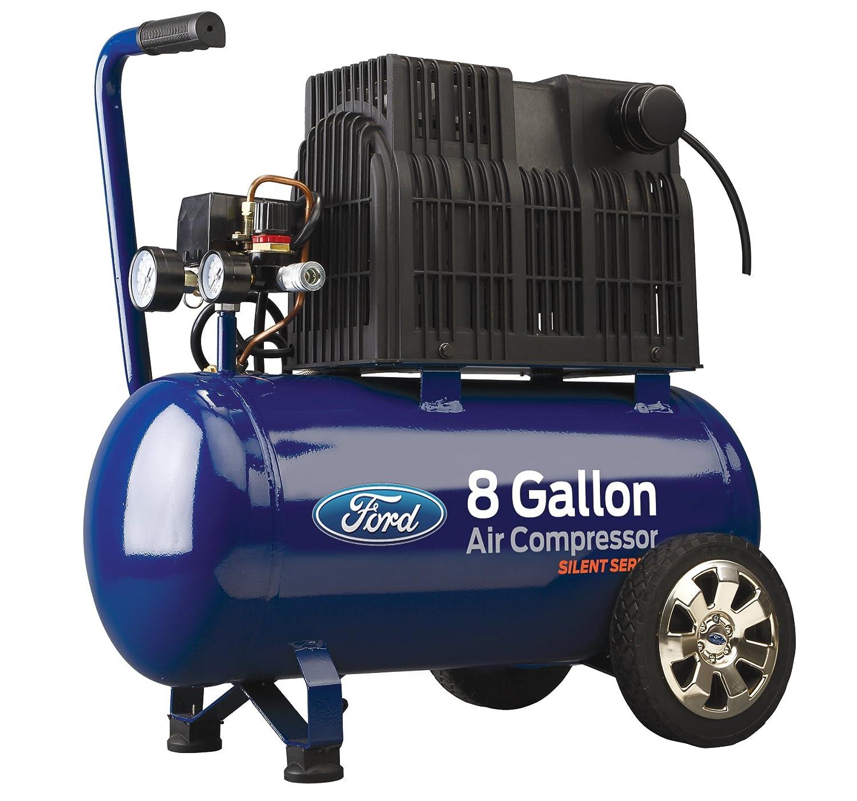 Ford Silent Series 15 Gallon Vertical Tank 2 HP, 125 Max PSI Oil-Free Air Compressor, FCE6150QV Pulsar