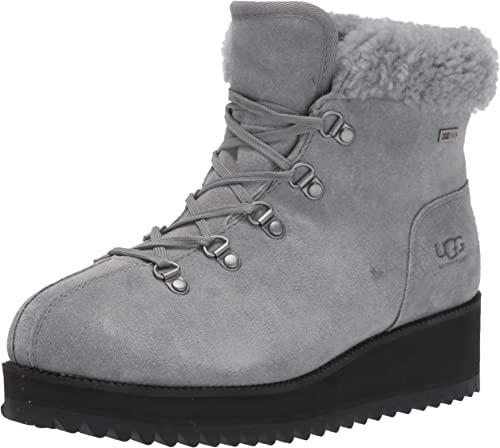 W Birch Lace-up Shearling Ankle Boots