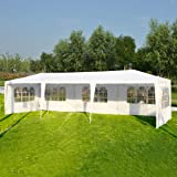 Tangkula 10'x30' Outdoor Party BBQ Tent Outdoor Canopy White