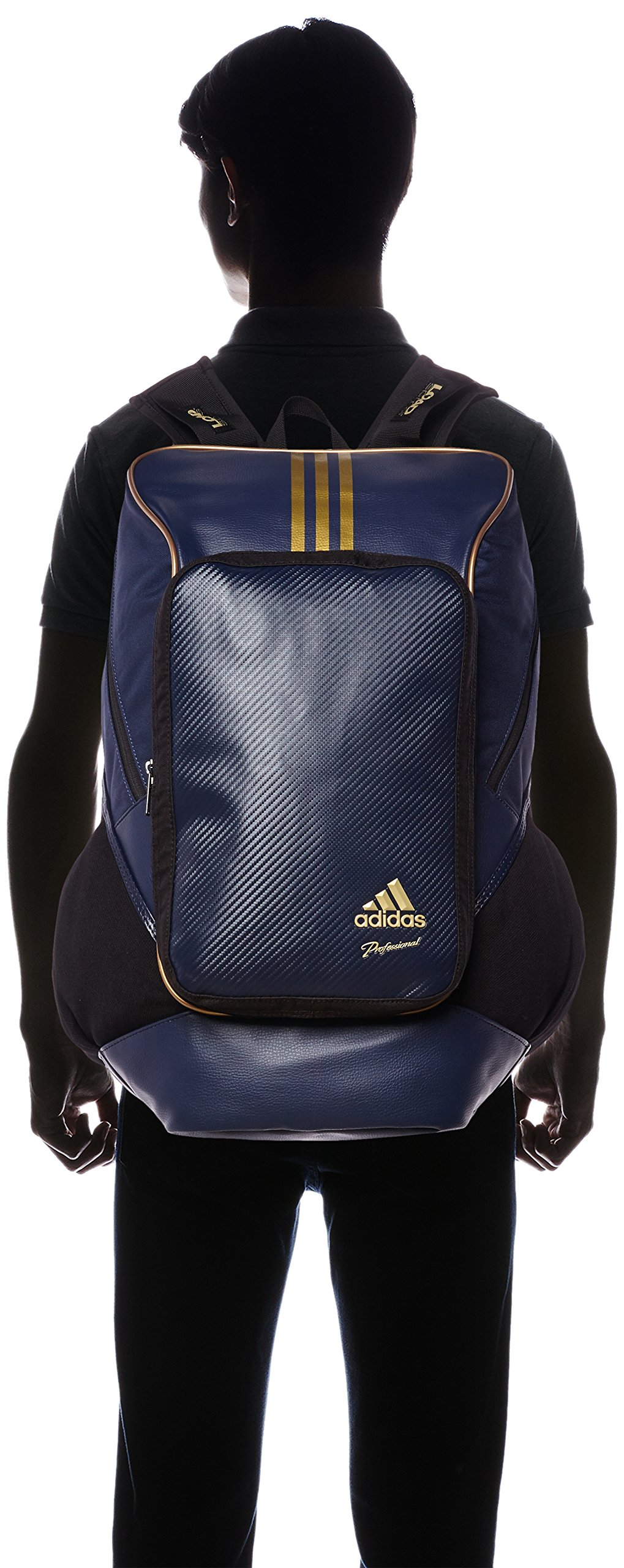adidas Professional backpack BIN37 AP2768 (College Navy / Gold Met) by adidas (Image #4)