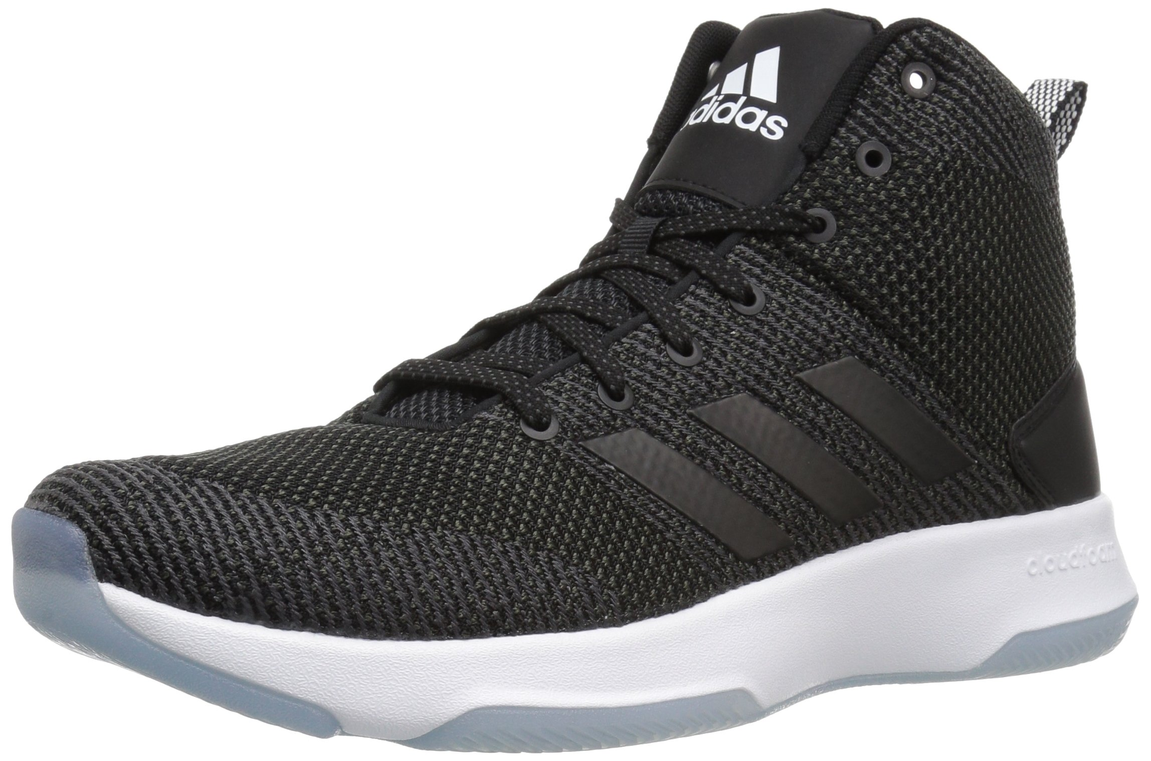 adidas Neo Men's CF Executor Mid Basketball-Shoes, Utility Black/Black/White, 10 Medium US