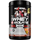 Six Star Whey Isolate Plus Protein Powder, 100% Whey Protein Isolate, Decadent Chocolate, 1.54 Pounds