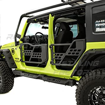 Amazon.com Restyling Factory -Rock Crawler Off Road Replacement Front+Rear Tubular 4 Door Set Without Mirror (Black) for 07-18 Jeep JK Wrangler Automotive  sc 1 st  Amazon.com & Amazon.com: Restyling Factory -Rock Crawler Off Road Replacement ...