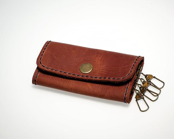 Amazon.com  Handmade Leather Key Case Wallet - Key Holder - Key ... c5421f173