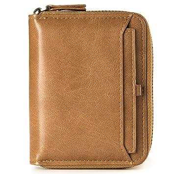 1535863850547 Ledergeldbörse Geldbeutel Geldbörse Portemonnaie Ledergeldbeutel  Brieftasche Herren Mini-Geldbörse aus echtem Leder mit RFID Schutz