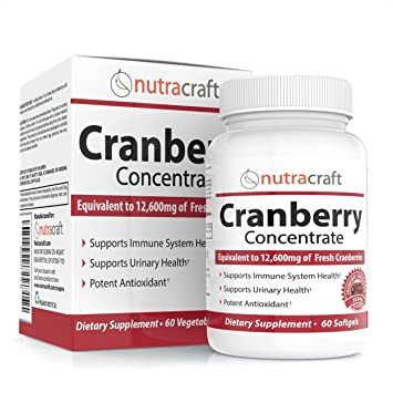 3x Cranberry Extract Supplement For Bladder & Urinary Tract Infection UTI Support - 12,600 mg of