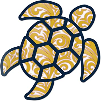 Sea Turtle Snail Shell Sticker Vinyl Decal Rear Window Car Truck Laptop New 4/""
