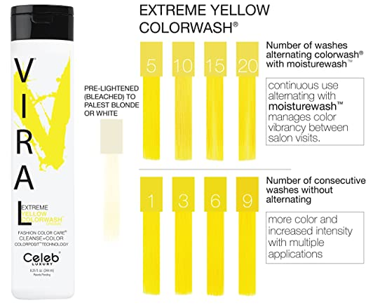 extreme yellow colorwash