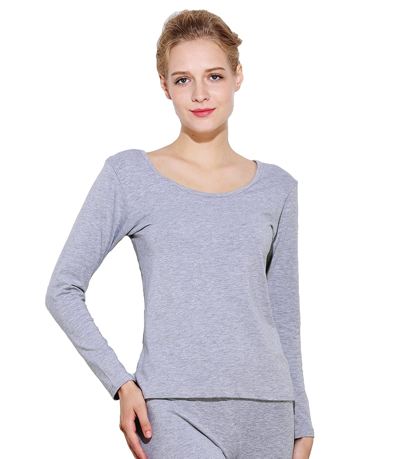 Liang Rou Womens Thermal Round Neck Shirt