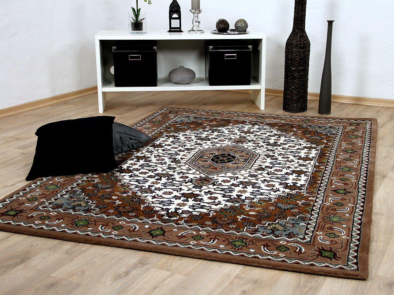 Theko Natur Orientteppich Royal Beige Bidjar in 8 Größen