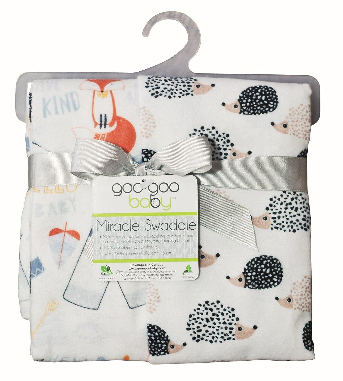 nice Goo-Goo Baby Miracle Swaddle 2 Pack, Hedgehog & Fox big discount