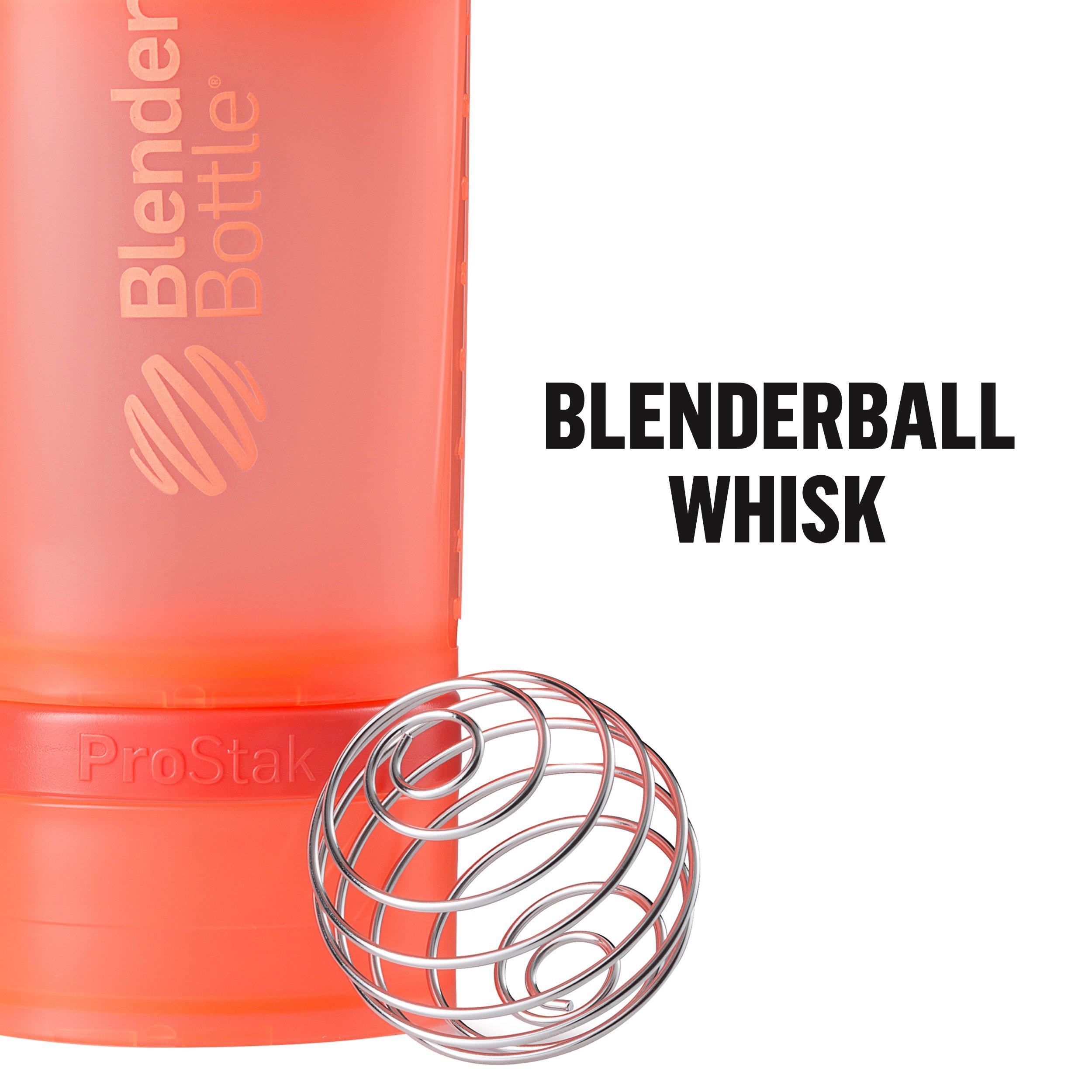 BlenderBottle ProStak System with 22-Ounce Bottle and Twist n' Lock Storage, All Black by Blender Bottle (Image #4)