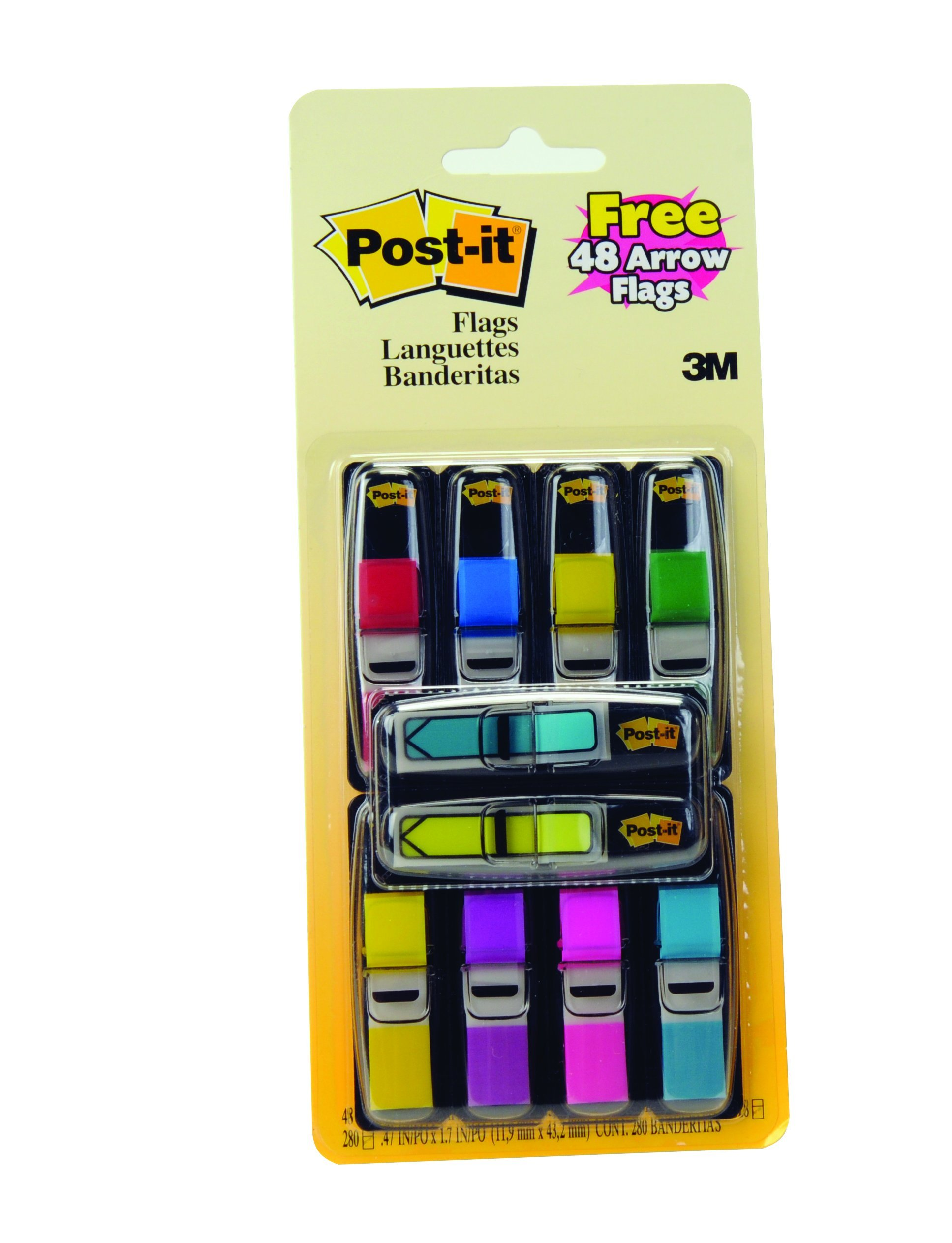 Post-it Flags Value Count, Assorted Colors, 280 Count (683-VAD1)
