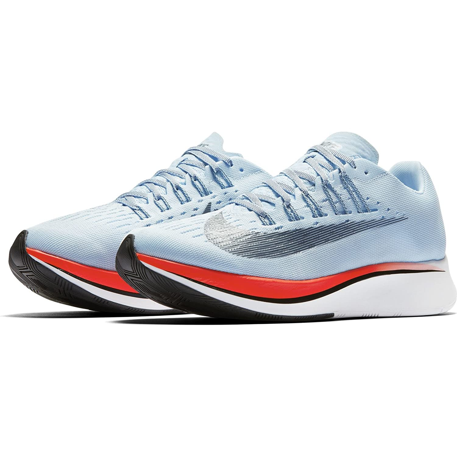 Nike Womens Zoom Fly Fabric Low Top Lace Up Running Sneaker, Blue, Size 8.0