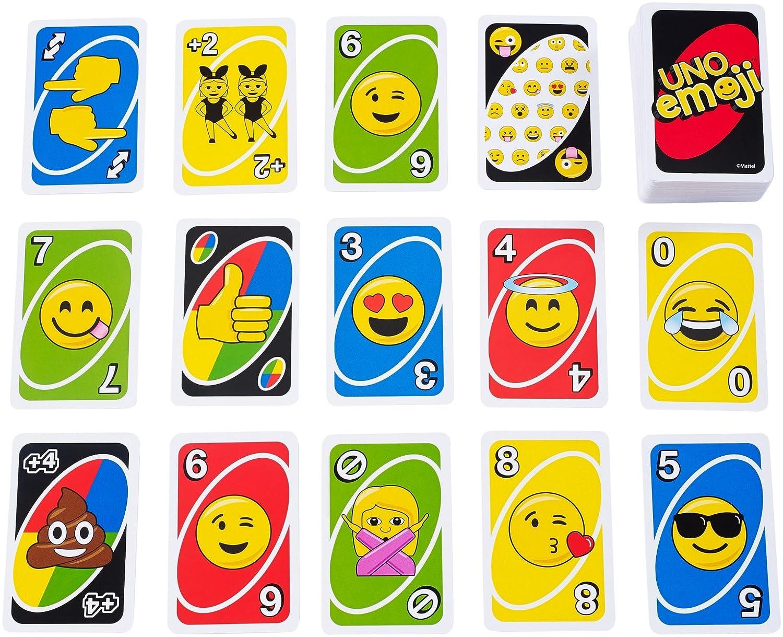 amazon com uno emoji card game toys u0026 games