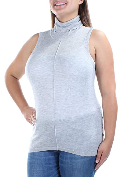 d6634b68c1d92b GUESS  59 Womens New 1398 Gray Turtle Neck Sleeveless Casual Top XL ...