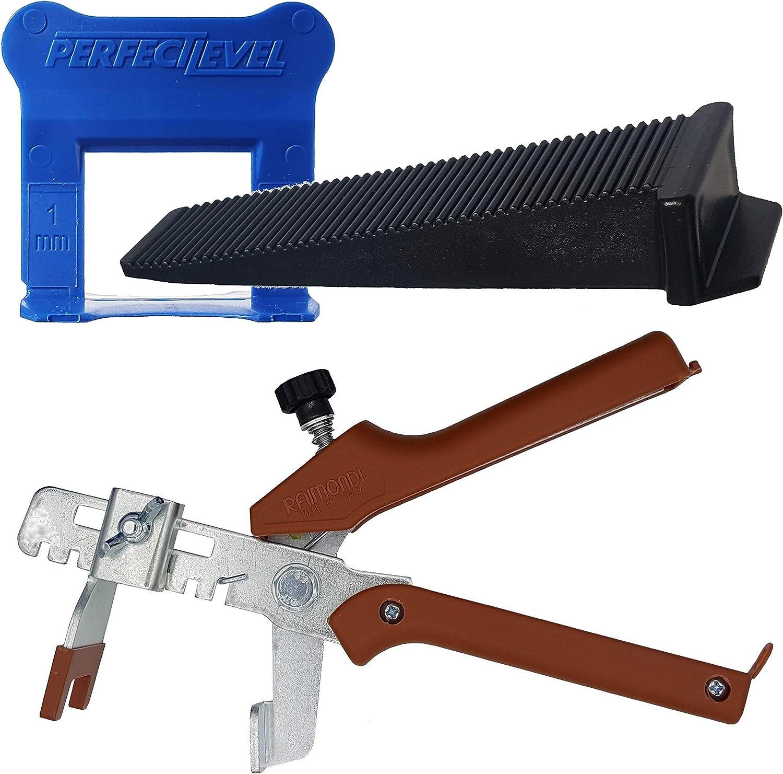 Syst/ème de pose du carrelage levello cales et pince Syst/ème de nivellement pour carrelage Kit de d/émarrage 1,5 mm clips Kit pour la pose du carrelage Hauteur 3 12 mm. StarterKit