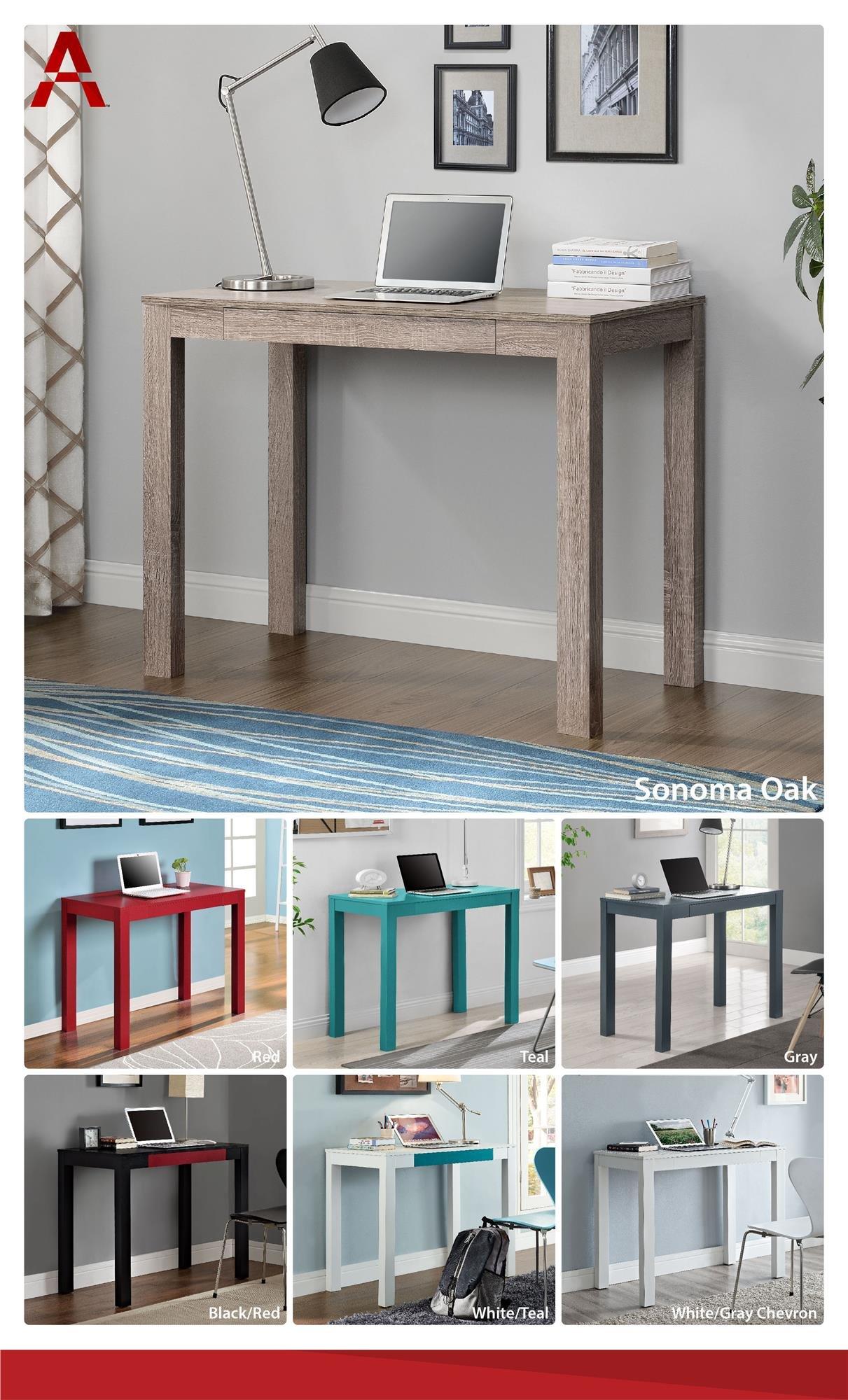 Galleon Altra Delilah Parsons Desk With Drawer Sonoma Oak