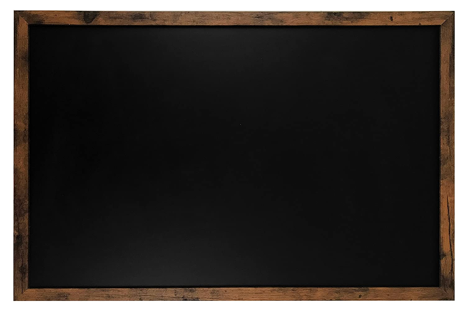 "Rustic Wood Premium Surface Magnetic LARGE Chalk Board- 24""x36"" Perfect for Chalk Markers and Home Decor"