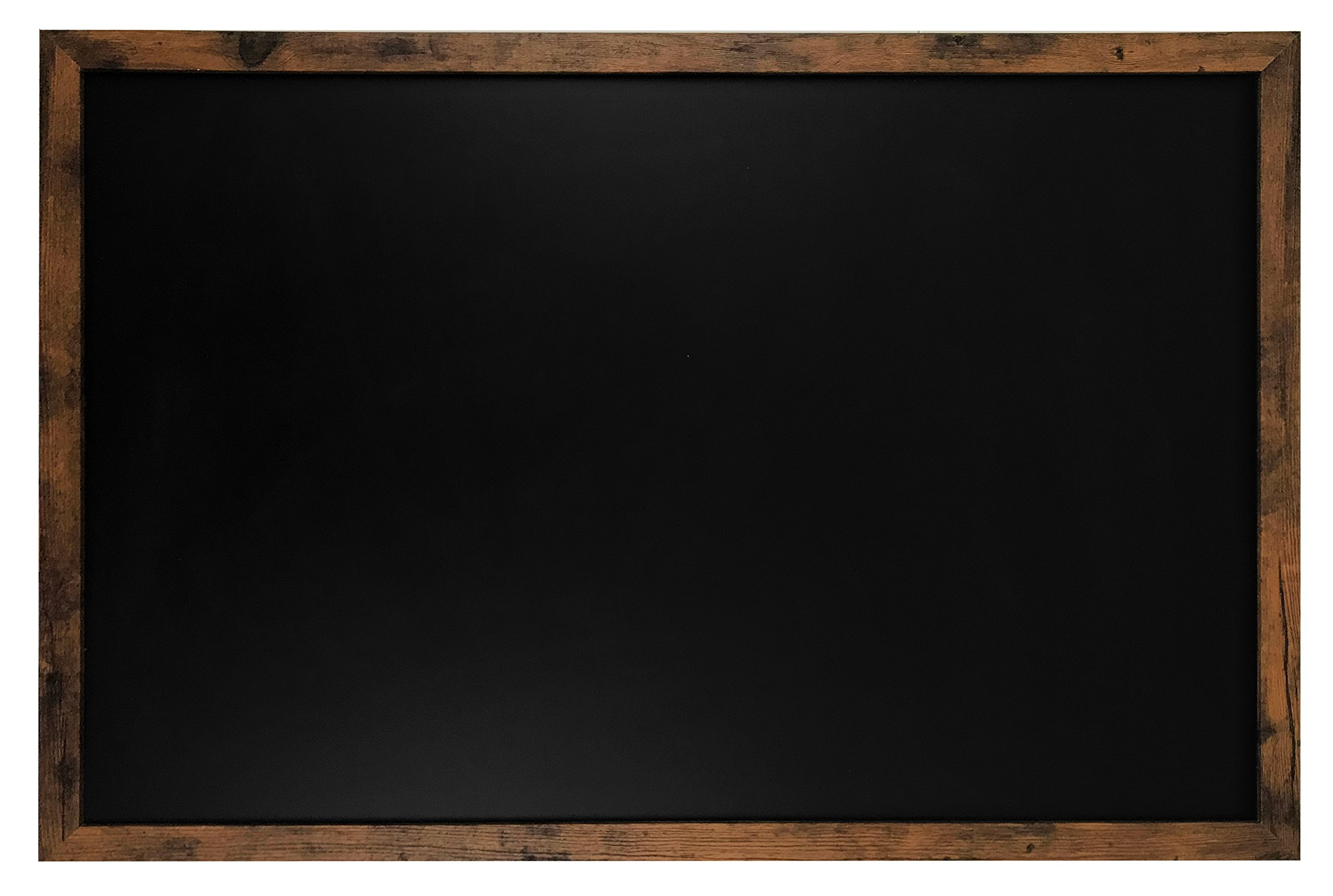 Rustic Wood Premium Surface Magnetic Large Chalk Board- 24''x36'' Perfect for Chalk Markers and Home Decor