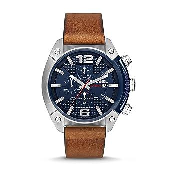 d2e94cb6c26a Amazon.com  Diesel Men s Overflow Brown Leather Watch DZ4400  Watches