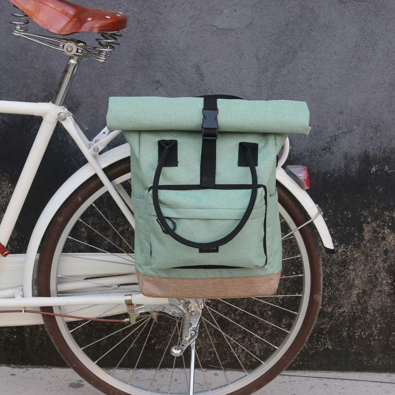 Tourbon - Mochila para Bicicleta, con Tapa Enrollable: Amazon.es: Deportes y aire libre