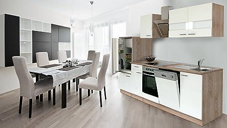 respekta Instalación de Cocina Cocina 280 cm Roble Frontal ...