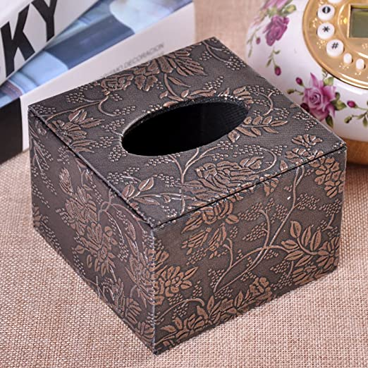 Caja de pañuelos cuadrada Dibujo cartón Papel de restaurante de hotel caja de extracción-P: Amazon.es: Hogar