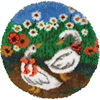 "MCG Textiles Latch Hook Kit 27"" Round-Geese Rug"