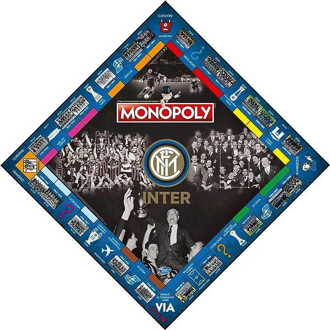 Winning Moves 31493 - Juego de Mesa Monopoly Equipo de fútbol Inter Edición de colección, Color 3: Amazon.es: Juguetes y juegos