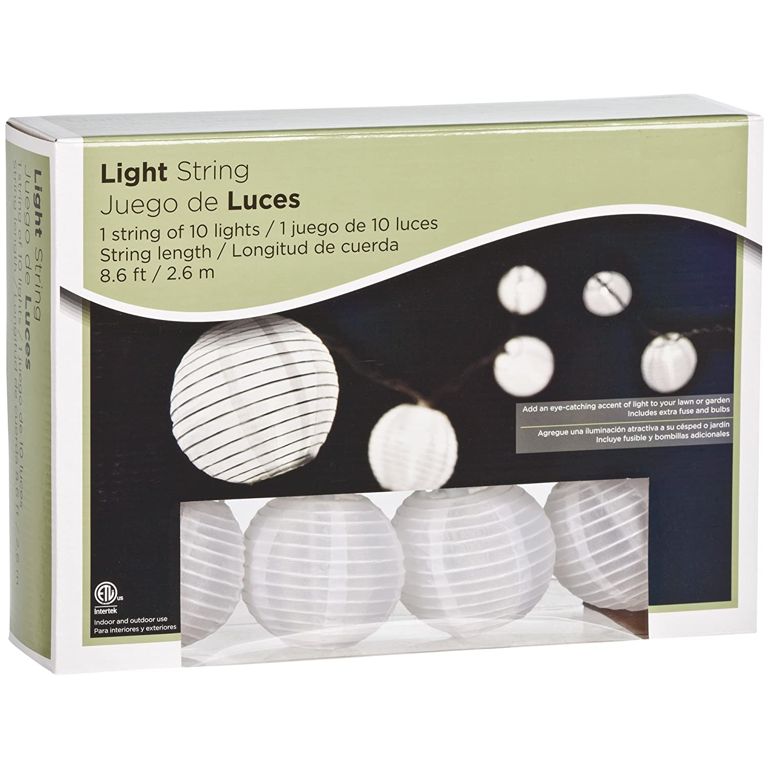 Amazon.com: Gemmy Hanging Light String - White Chinese Lanterns: Home Improvement