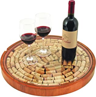 Amazoncom Wine Enthusiast Wine Cork Lazy Susan Kit Kitchen Dining
