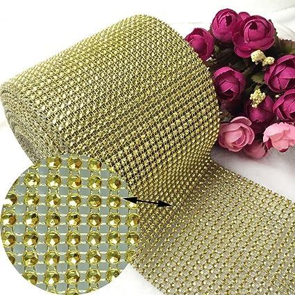 Amazon Gold Diamond Rhinestone Ribbon Bling Wrap Bulk Diy