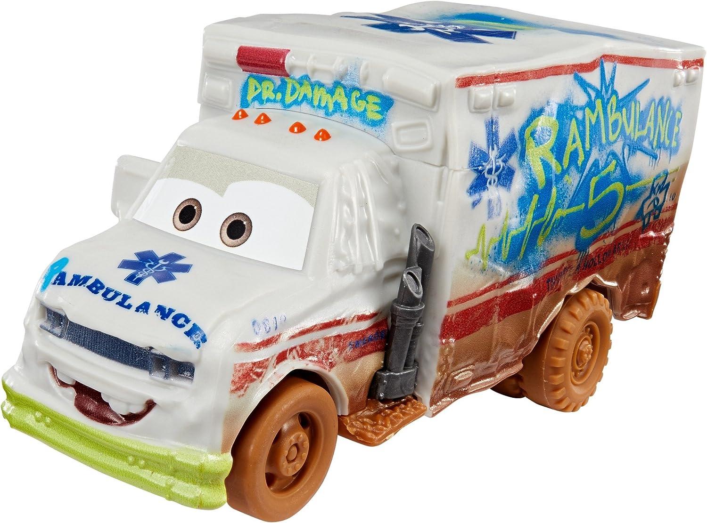 Cars 3- Coche Crazy Deluxe Ambulance (Mattel DYB22): Amazon.es: Juguetes y juegos