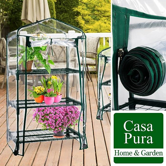 Available in 3 Sizes 2 Tier - 68x49x96cm | Portable Grow Tent casa pura/® Mini Greenhouse Casabella