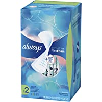 Always Infinity Feminine Pads for Women, Size 2, Heavy Flow Absorbency, Unscented, 32 Count - Pack of 3 (96 Count Total)