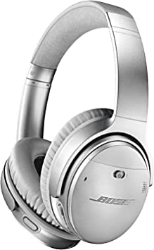Bose Quietcomfort 35 Ii Wireless Bluetooth Headphones Noise Cancelling With Alexa Voice Control Enabled With Bose Ar Silver