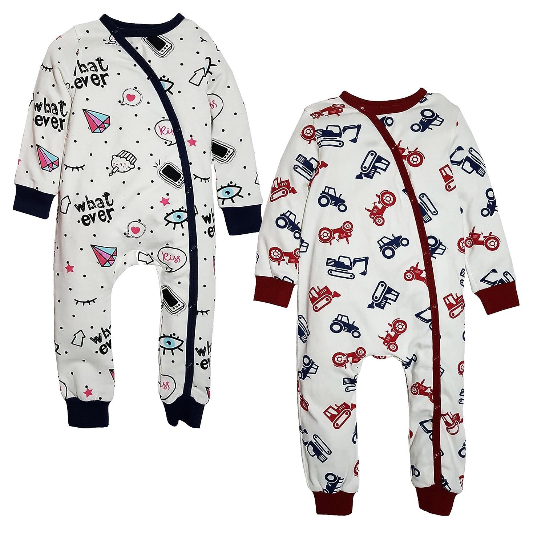 c278f1333 Kadambaby- Set of 2 Winter Bodysuit Newborn Sleep Suits Bodysuit for ...