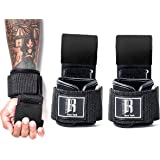 RIMSports Weight Lifting Hooks Heavy Duty Lifting Wrist Straps for Pull ups Deadlift Straps for Power Lifting Lifting Grips w