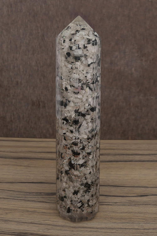 CRAFTSTRIBE Celenite Obelisk Tower Reiki Orgone Gemstones Healing Generator Stone