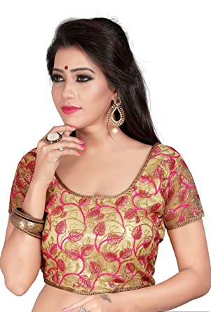 ad7761a6a2668e Kuvarba Fashion Women's Banglori Silk Stitched Saree Blouse (2013; Beige):  Amazon.in: Clothing & Accessories