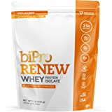 BiPro Renew 100% Whey Isolate Protein Powder, Unflavored 1 Pound - Dietician Recommended, Sugar Free, Lactose Free…