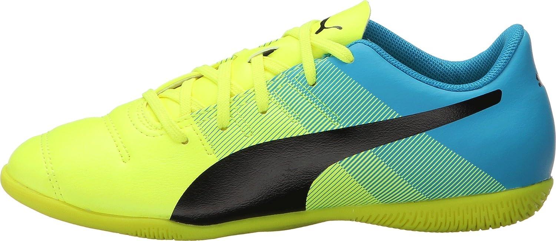 Little Kid//Big Kid Safety Yellow//Black//Atomic Blue Sneaker 3.5 Big Kid M PUMA Kids Unisex Evopower 4.3 IT Jr Soccer