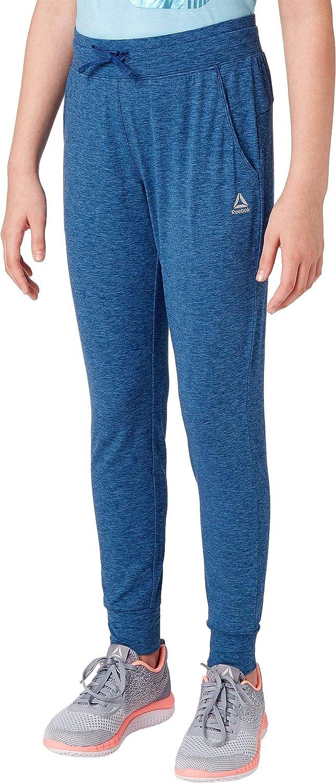 Reebok Girls 24/7 Jersey Jogger Pants (HTR Bunker Blue Tonal Dd ...
