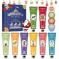 Set de Crema de Manos, Regalo de Navidad, Eleanore's Diary Set de Regalo de 8 PCS Crema de Manos y 4 PCS Bálsamo labial…