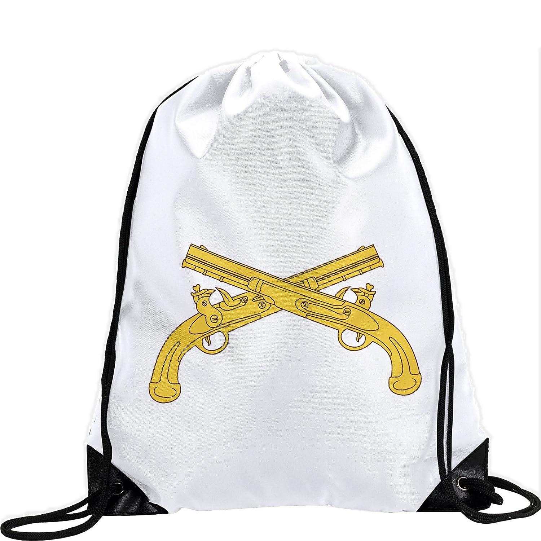Large Drawstring bag with US Army Military警察隊、ブランチInsignia – Long Lasting鮮やかなイメージ B01AYFHRL0