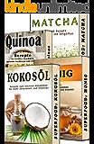 Superfood BOX: Kokosöl, Matcha, Quinoa, Honig, 4 in 1 SET, Paleo Rezepte zum Abnehmen (Superfood, Low Carb, Abnehmen, Paleo, Kokosöl, Matcha, Quinoa, Honig, Powerfood, Abnehmen)