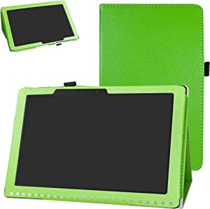 Acer Iconia One 10 B3-A50 Case,Bige PU Leather Folio 2-Folding Stand Cover for Acer Iconia One 10 B3-A50 10.1 inch 2018 Tablet (Not fit Acer A3-A50),Green