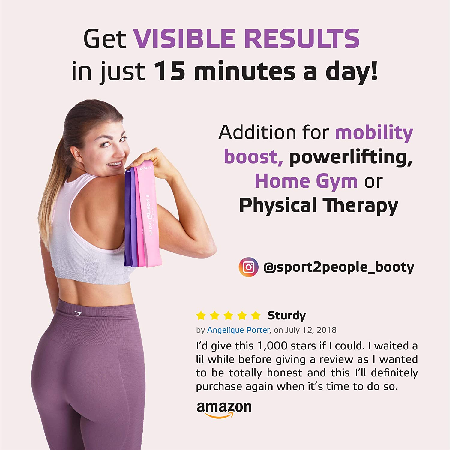 Sport2People Loop Resistance Bands mit Free E-Books